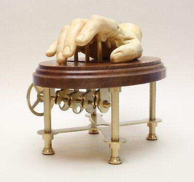 "Automata Kinetic art automaton in steampunk style.../""The waiting hand/"""