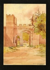 C-A-Grove-Late-19th-Century-Watercolour-West-Gate-on-Sea