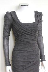 Dolce-amp-Gabbana-Grey-Wool-Ruched-Corset-Dress-It-38-uk-6