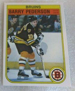 Barry-Pederson-ROOKIE-CARD-1982-83-O-PEE-CHEE-OPC-VG-NM-20-Boston-Bruins-RC-C