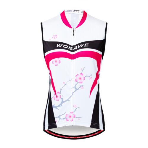 Damen Radweste Ärmellose Fahrradbekleidung Atmungsaktive Weste Lady Cycling Vest