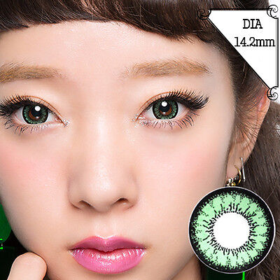 Lentilles de Contact Green Color Contact Circle Lenses Dia14,2mm AcGr A2