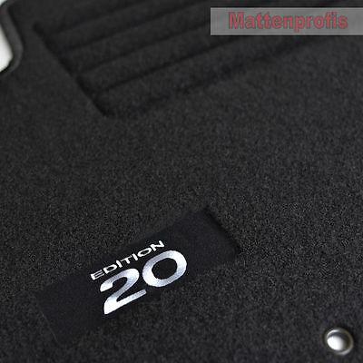 Velours Fußmatten Hyundai i20 II ab Bj 2015 Mit Absatzschoner passform BASIC