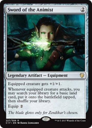 SWORD OF THE ANIMIST Commander 2017 MTG Artifact — Equipment Rare