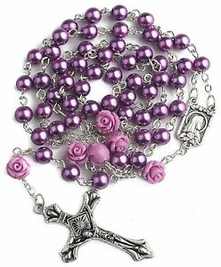 Catholic-Purple-Pearl-Beads-Rosary-Necklace-Our-Rose-Lourdes-Medal-Cross-19-034