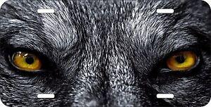 Wolf-Eyes-License-Plate-Custom-Car-Tag-Novelty-Plate