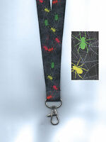 1 x SPOOKY SPIDERS Halloween Breakaway Safety Neck Strap Lanyard: FREE UK P&P
