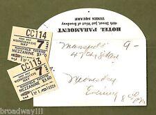 "Fredric March ""YEARS AGO"" Florence Eldridge / Ruth Gordon 1947 Ticket Stubs"