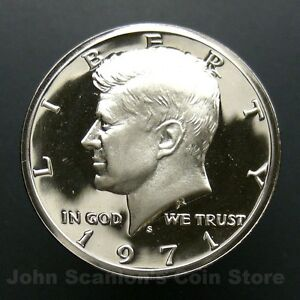 1971 S Clad Proof Kennedy Half Dollar-Gem Proof