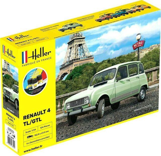 Heller 1:24 Renault 4 TL/GTL Gift Set Car Model Kit