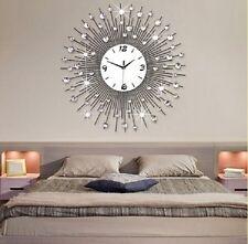 60CM DIY Peacock Round Iron Art Metal Dining Room Modern Bedroom Wall Clock 2016