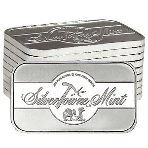 SilverTowne Mint Signature 1oz .999 Fine Silver Bar LOT of 10
