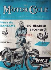 12 Aug 1954 B.S.A '150cc Bantam Major' Motor Cycle ADVERT - Magazine Cover Print