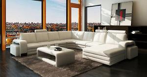 Wohnlandschaft-Sofa-Couch-Polster-Leder-Sitz-Ecke-Garnitur-XXL-Big-EDEN-U-Form