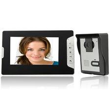 "7"" Wired LCD Display Monitor Video Door Phone Intercom Doorbell Night Vision US"