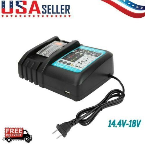 18V Makita DC18RC Replace Charger For Makita BL1830 BL1850 BL1830 Fast ChargeUS