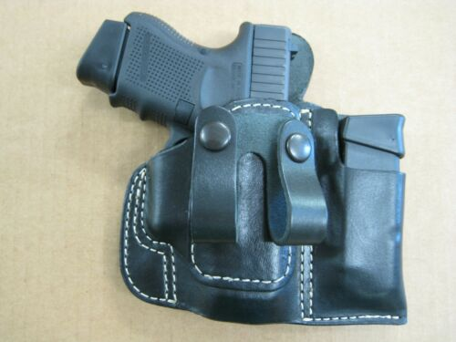 USA Leather Belt Loop IWB Combo Holster 4 Mag Pouch CCW For..Choose Gun