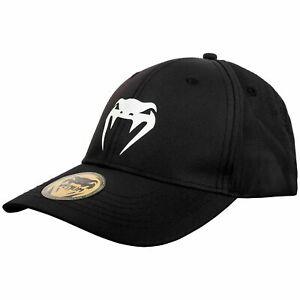 Venum Classic Snapback Black Black Cap Hat Snapback Headwear Casual MMA Boxing