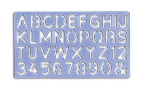 plastic letter stencils 4 style set ebay
