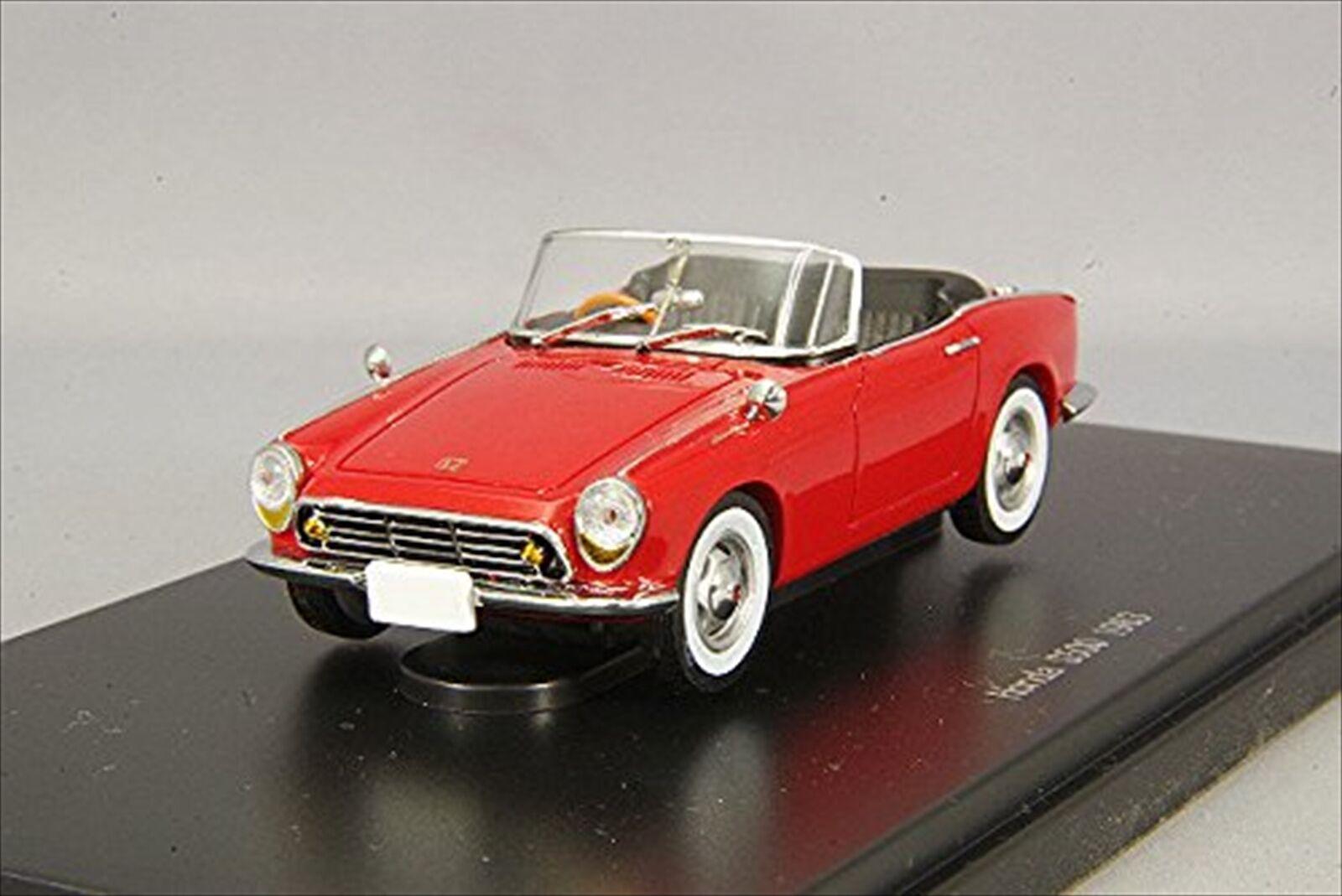 EBBRO 1  43 Honda S500 1963 Rött hkonsts Förlaga 45468