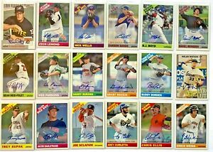 (18) Mostly 2015 Topps Heritage Real One Autograph Rookie RC Auto Card LOT