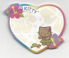 Sanrio Hello Kitty Sticky Notes Hawaii 30 Sheets Heart Hula Flower Diecut