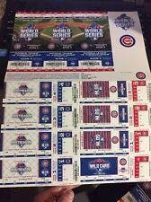 Chicago Cubs 2015 Playoff Strip Postseason NLCS NLDS World Series Stubs Tickets