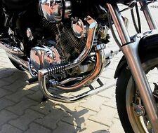STAINLESS STEEL CUSTOM CRASH BAR ENGINE GUARD + PEGS YAMAHA XV 750 / 1100 VIRAGO