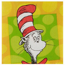 DR. SEUSS Polka Dots SMALL NAPKINS (16) ~ Birthday Party Supplies Cat in the Hat