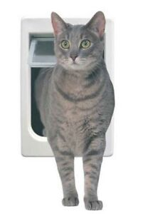 Ideal ChubbyKat Hefty Fat Large Cat Pet Interior Exterior Lockable Door Flap