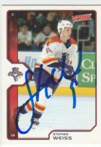 Stephen Weiss Autograph 02-03 Victory Panthers Card