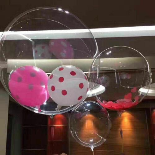 "10/"" 18/"" 36/""Clear BOBO Balloons Transparent Wedding Birthday Xmas Party Decor UK"