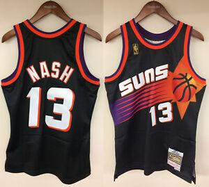 hot sale online 8170b 4fc50 Details about Steve Nash Phoenix Suns Mitchell & Ness Rookie 1996-1997  Authentic Jersey Black