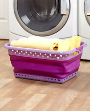 The Lakeside Collection Collapsible Laundry Baskets - Purple
