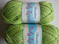 Herrschners Baby Sparkle Pompadour Yarn, Meadow, Lot Of 2 (190 Yds Each)