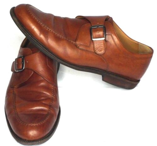 Spedizione Johnston 10m Size Brown Mens Buckle Murphy Leather Monk Shoes gratuita fgWnfAz