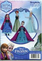 Frozen Fashions For 11 1/2 Fashion Doll - Elsa & Anna Simplicity Sewing Pattern