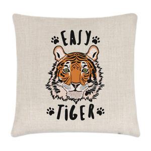 Easy-Tiger-Leinen-Kissenbezug-Lustig-Tiere