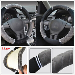 short-plush-car-steering-wheel-cover-3D-keep-warm-antiskid-leather-Diameter-38cm