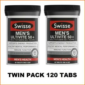 Swisse-Men-039-s-Ultivite-50-2x60-Tablets-Twin-Pack-120-Tabs-4-Months-Supply