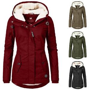 Women-039-s-Warm-Coat-Jacket-Outwear-Fur-Lined-Trench-Winter-Hooded-Parka-Overcoat