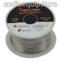 Cardas Soldering Wire Silver Quad Eutectic Solder Rosin 0.8mm, 110g Factory Roll
