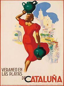 Espagne Spain  Vintage Railways Spanish Travel Advertisement Poster Print