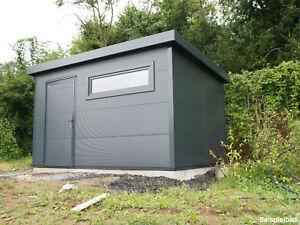 GO ISO   hochwertiges Gartenhaus isoliert   anthrazitgrau   4,00 x