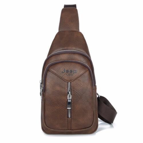 Men/'s Casual Briefcase Shoulder Bag Crossbody Messenger Leather Travel Bags