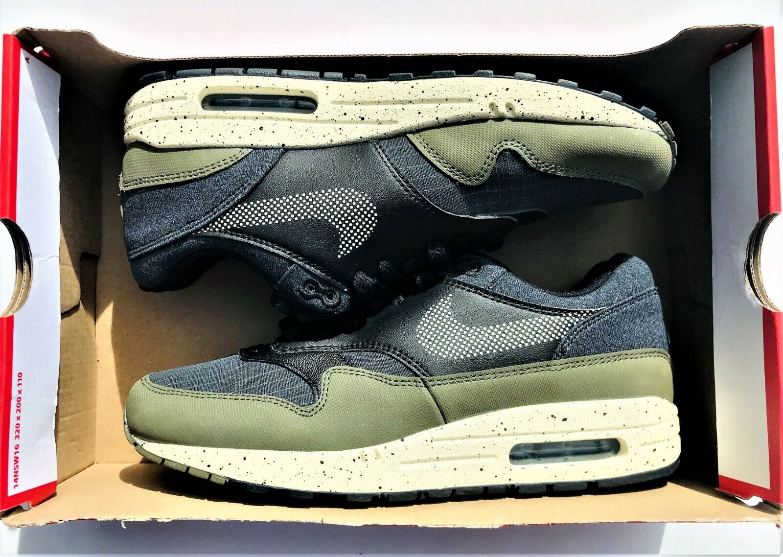 Nike Air Max 1 SE Medium Medium Medium Running shoes AO1021-200 Olive Cream Black Men's Sz 7.5 fc64c7