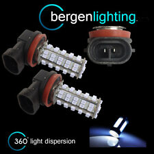 2X H11 WHITE 60 LED FRONT FOG SPOT LAMP LIGHT BULBS HIGH POWER XENON FF500701
