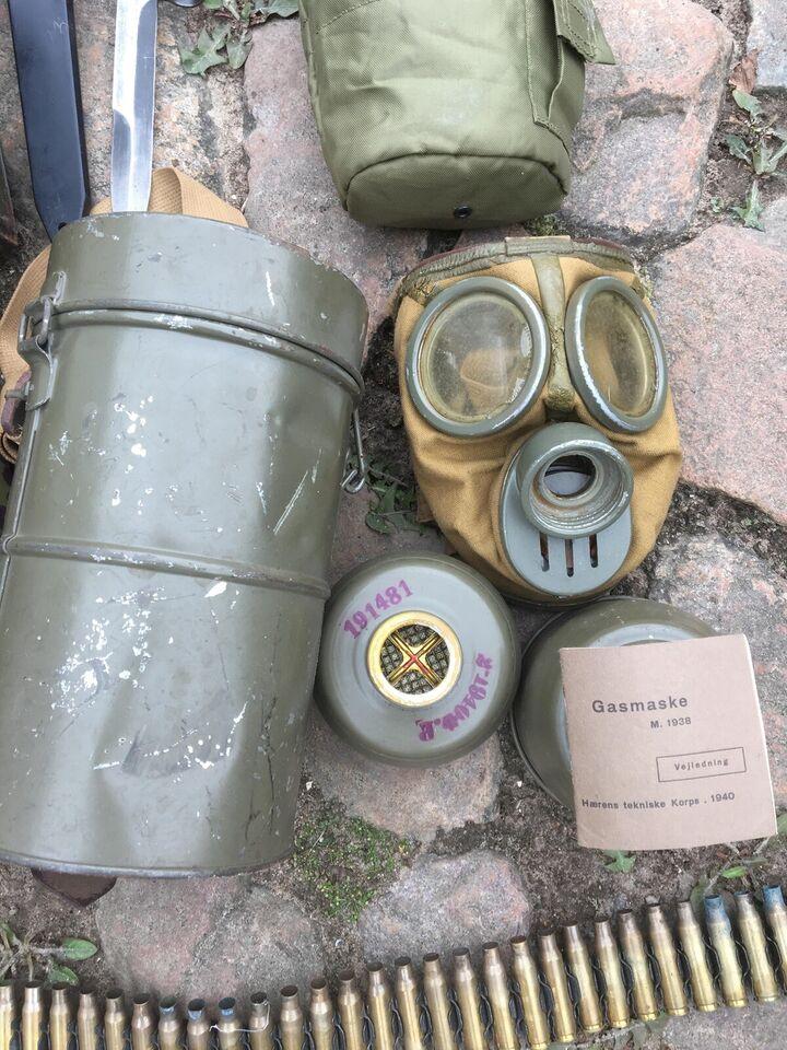 Militær, Bajonett, gasmaske