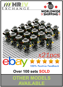 21-Minifigures-Green-Dragon-Army-Knights-Crossbow-Castle-Toys-Block-Custom-U
