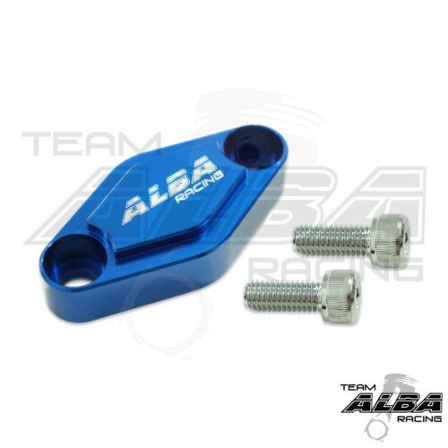 Suzuki LTZ 400 LTZ400  Parking Brake Blockoff Plate  Block off Plate  Blue